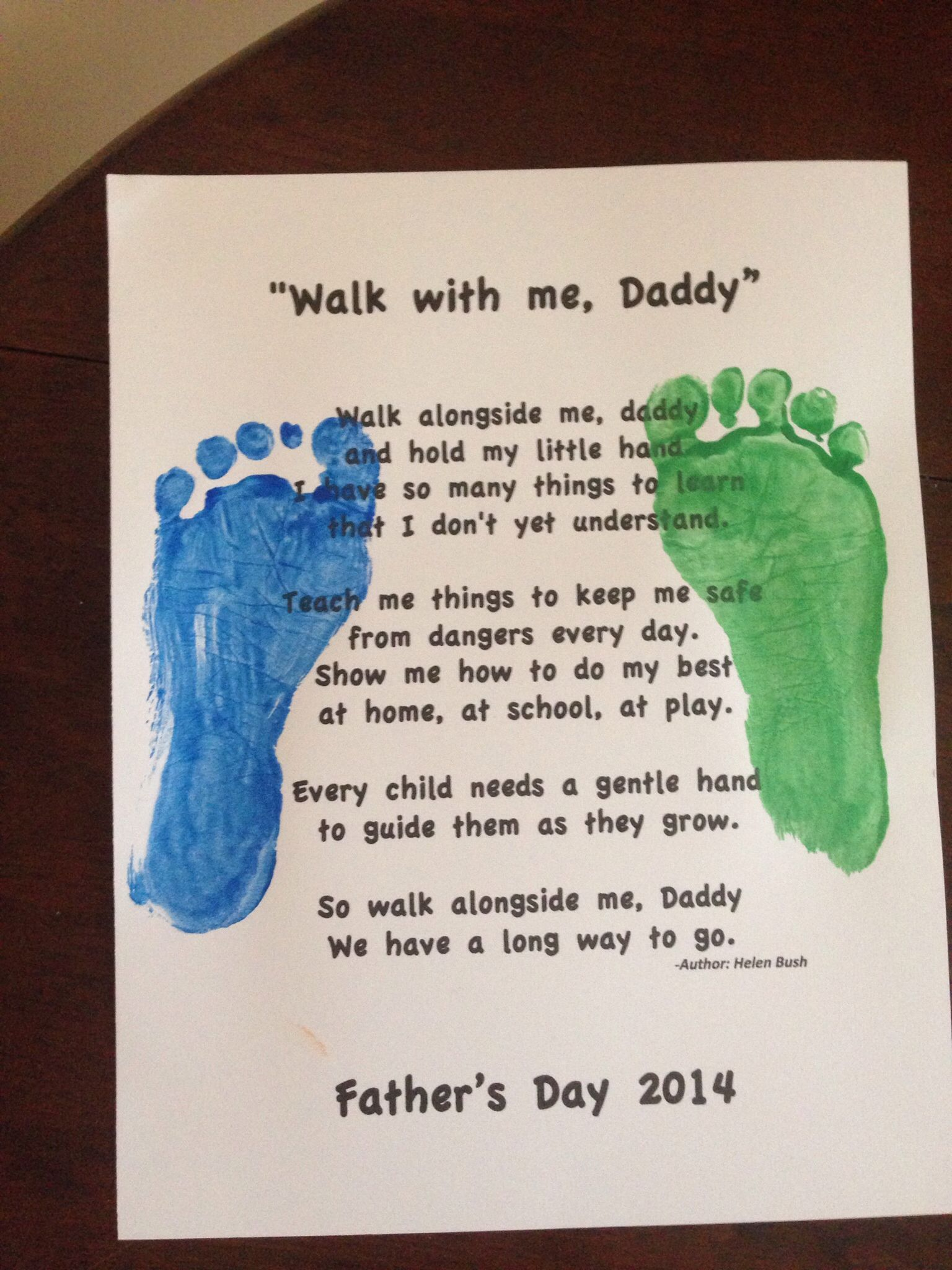 fathers day craft for toddlers with poem