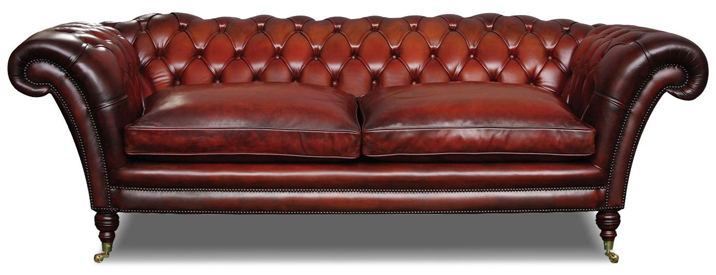Victorian Chesterfield 2 Seat Sofa Leather Edward S House