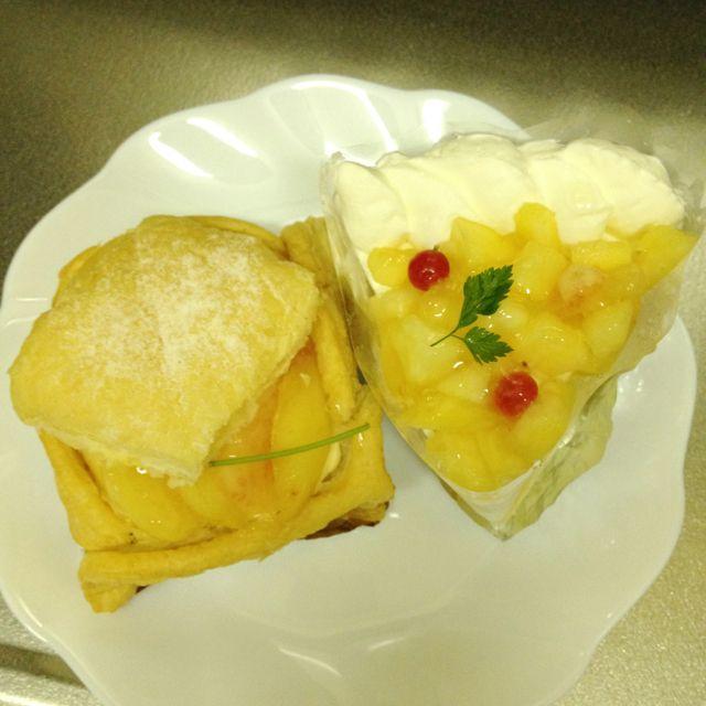 ら・ふらんす  ピーチパイと桃のショートケーキ