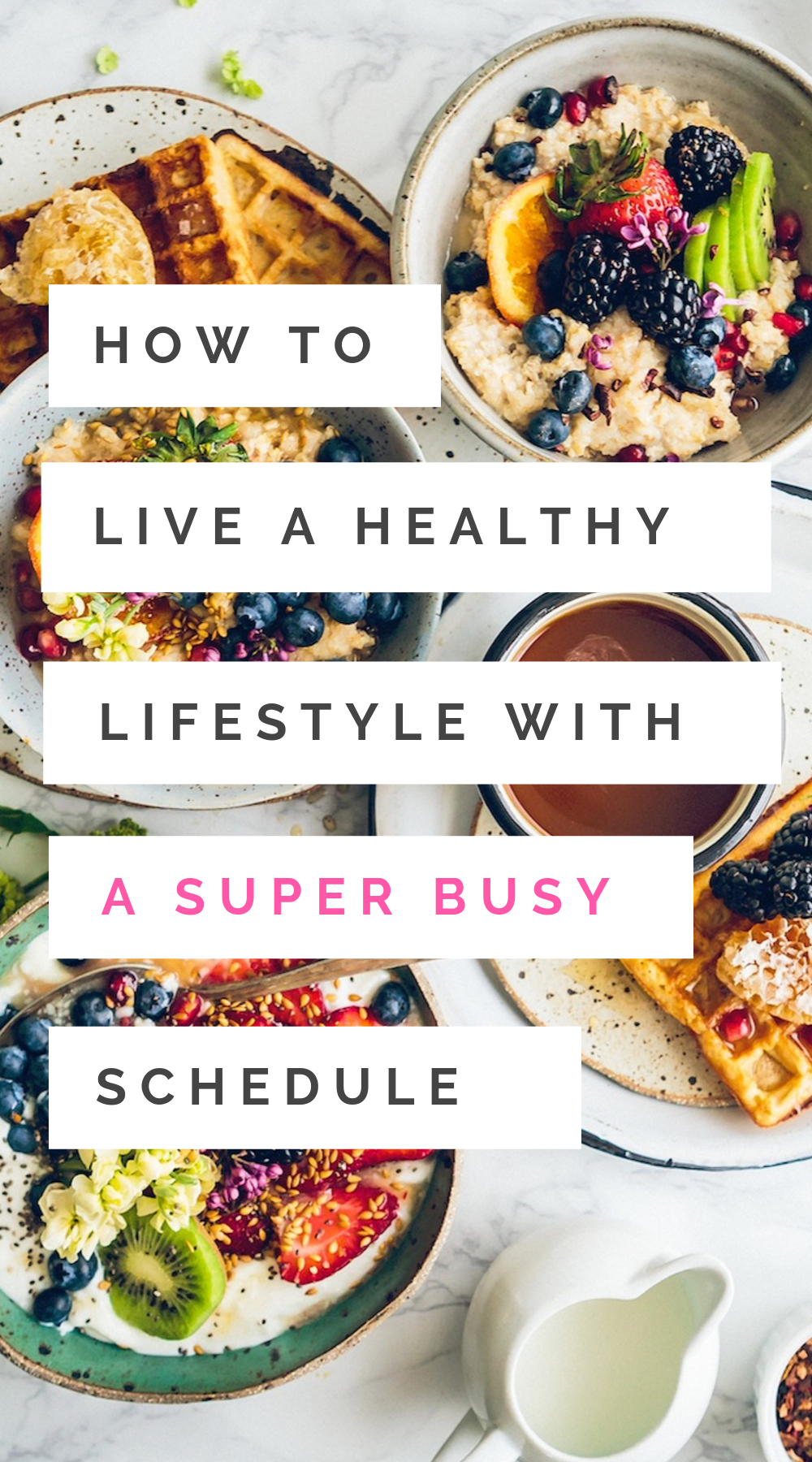 These helpful healthy lifestyle tips will give you the motivation to live a healthy life - even when you're super busy. Whether you're meal prepping or making healthy snacks, we're covering everything from exercise and fitness hacks to help you lose weight and live your best life! #healthylifestyle #healthyliving #healthandwellness #wellness #fitness #exercise #fitnesstips #healthyeating
