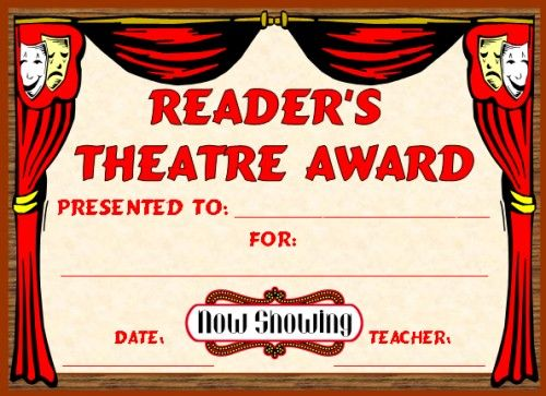 English award certificates readers theater certificate and readers theatre award you can find this printable award and many other awards and certificates for elementary school teachers on unique teaching yelopaper Choice Image