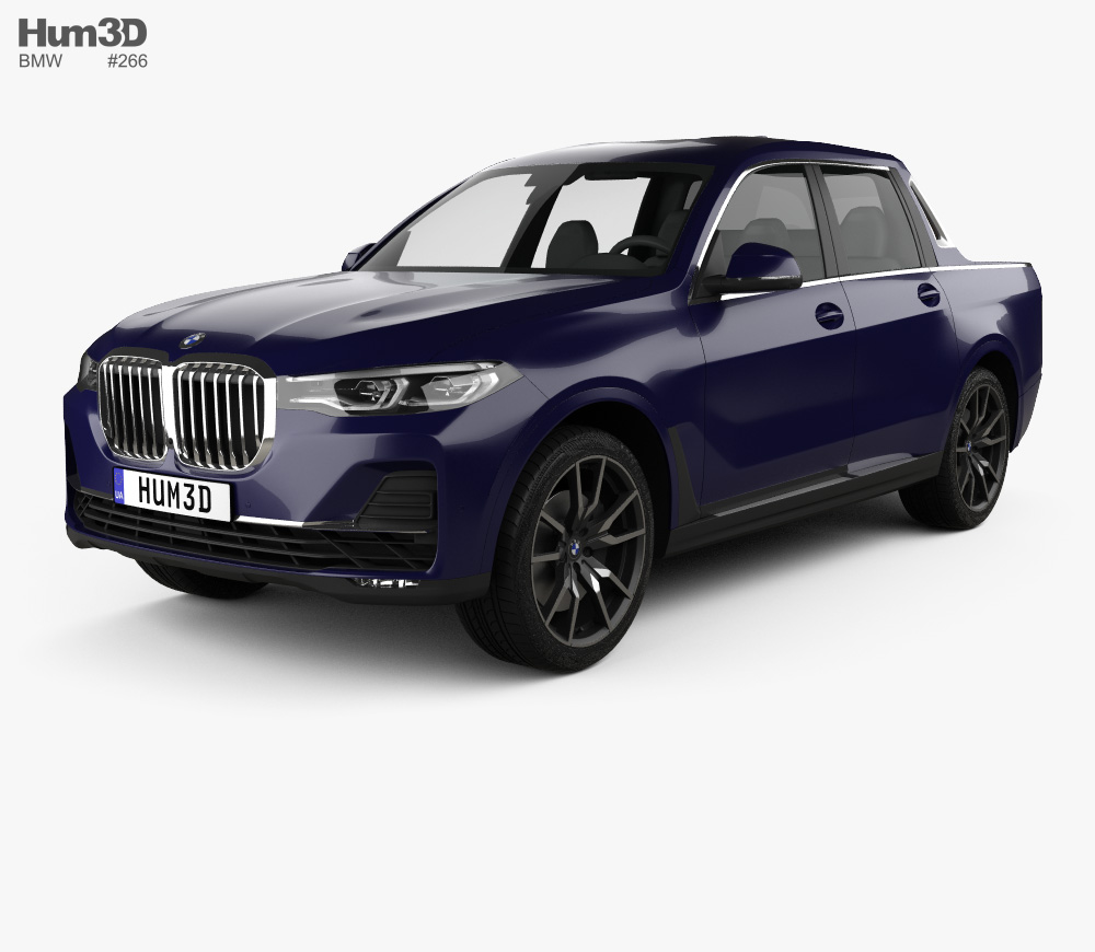 Bmw X7 Pick Up 2019 3d Model From Hum3d Com Bmw X7 Car 3d Model Bmw