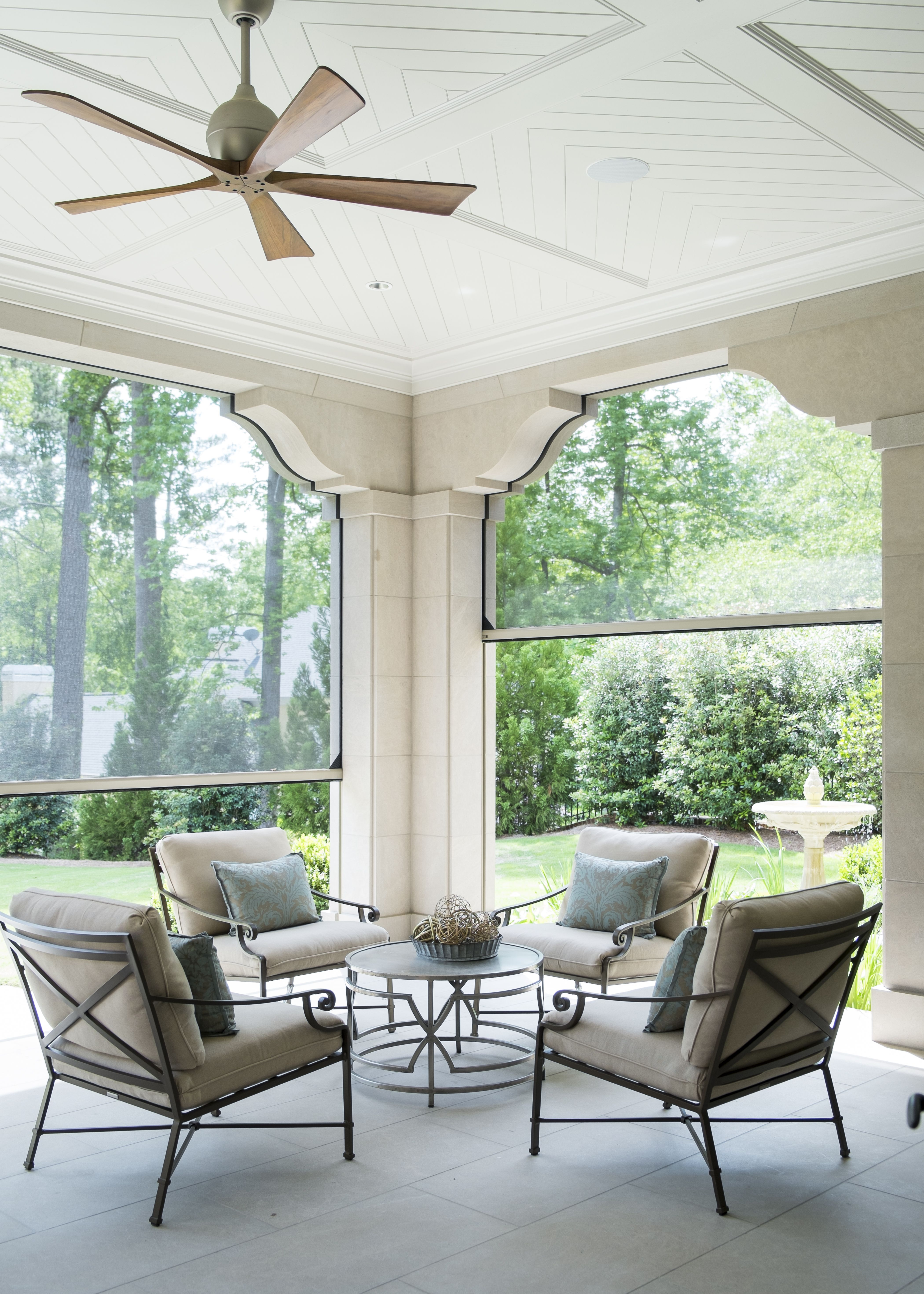 Beautiful Screened In Porch. Southern Perfection! #harrisondesign #porch # Outdoor
