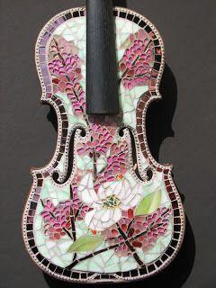 Mosaics violin. Beautiful!