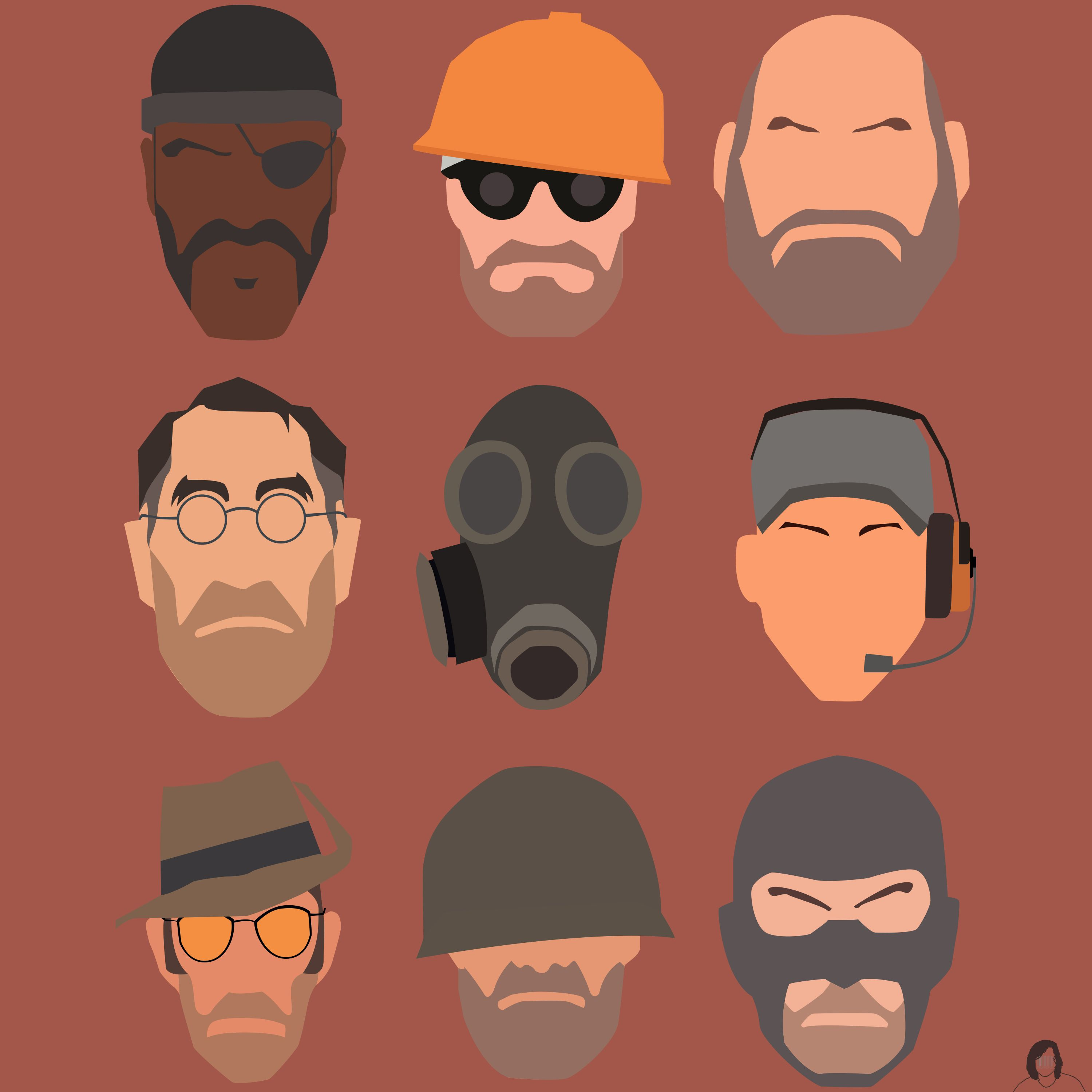 Teamfortress 2 Characters I Made Awhile Back Team Fortress 2