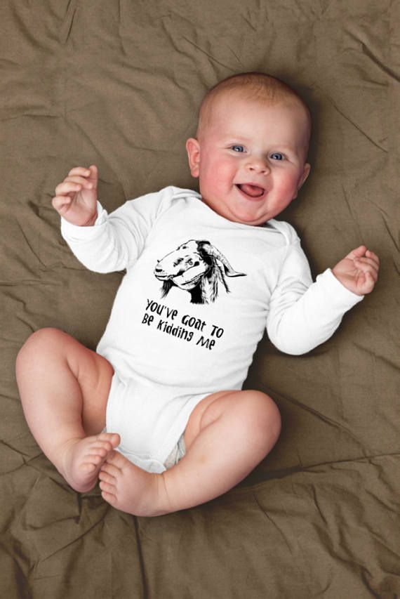 5ede037c7 Goat Onesie©, Goat Baby Clothes, Country Baby Clothes, Funny Goat Shirt,  Funny Goat Gift, Farm Baby