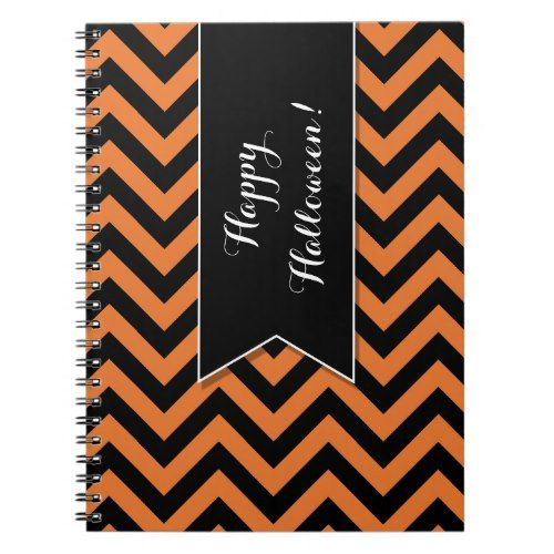 Halloween Chevron Pattern Custom Notebook 2017 Halloween Ideas - patterns for halloween decorations