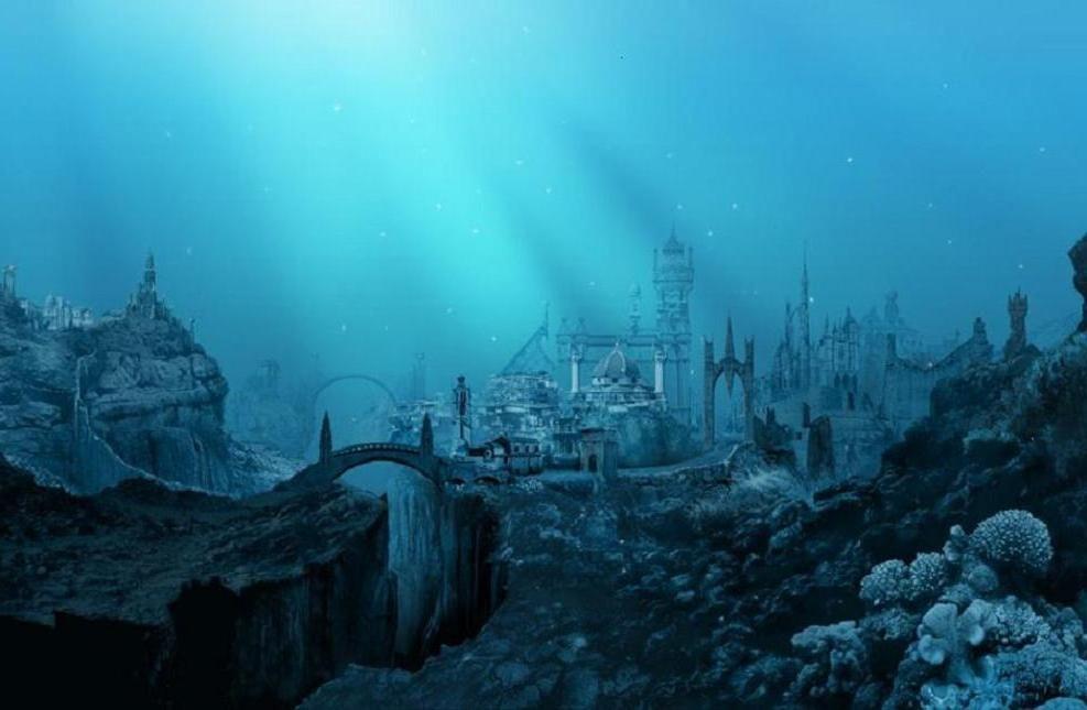 Atlantis Undersea City Underwater City Ancient Atlantis Lost City Of Atlantis