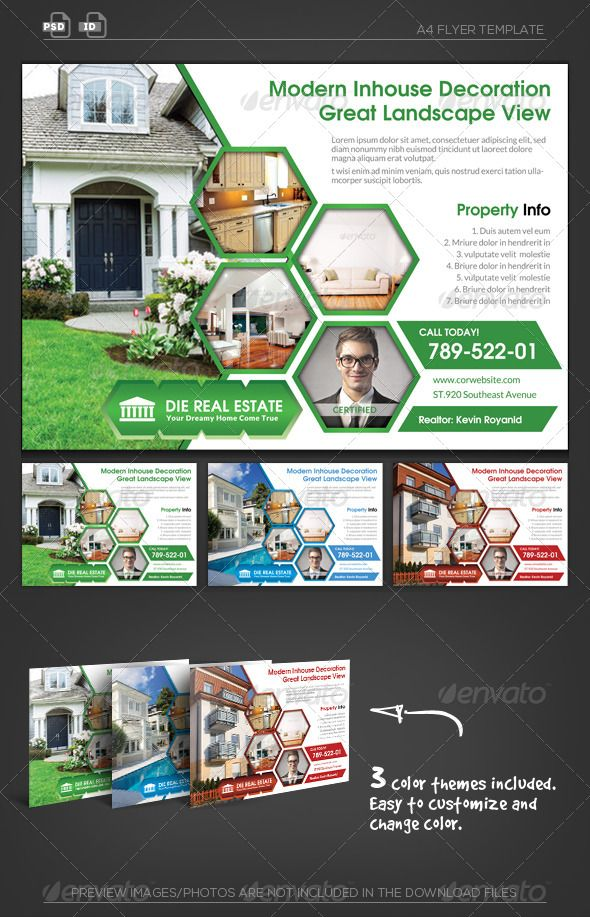 Real Estate Corporate Flyer Logo Shapes Fonts And Logos - Photoshop real estate flyer templates
