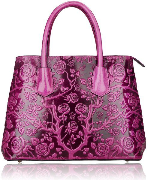 0b0695dede48 Miu Miu Jeweled-Strap Pucker Leather Tote A scaled-down tote in rich  puckered and pleated leather has a crystal link shoulder stra…