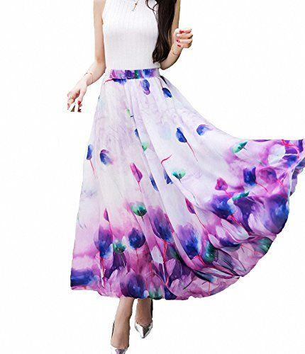 b25fd40396 Pin by Delia Hernandez on Fashion in 2019 | Long chiffon skirt, Long ...