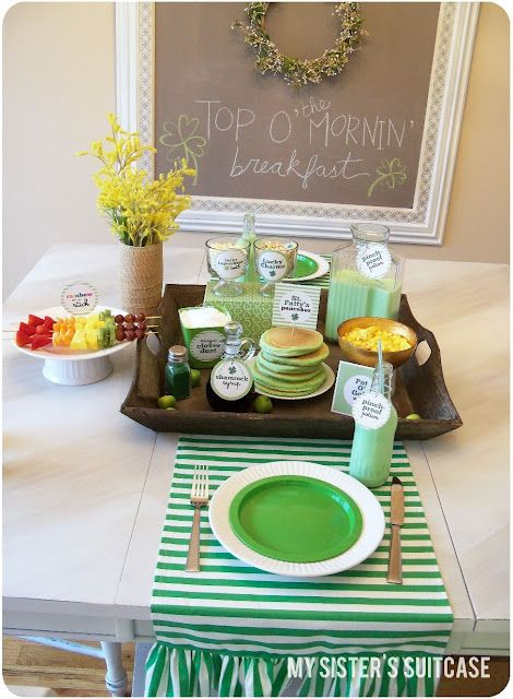 Adorable St. Patrick's Day Themed Breakfast
