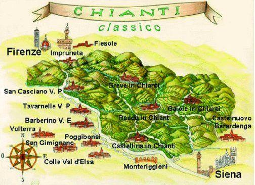 Si estende per 71 800 ettari. È situata al centro della Regione Toscana e comprende parte del territorio delle province di Firenze (30 400 ettari) e Siena (41 400 ettari).  All'interno della zona di produzione rientrano anche i territori originari di produzione del vino Chianti: Castellina in Chianti, Radda in Chianti, Gaiole in Chianti in Provincia di Siena.