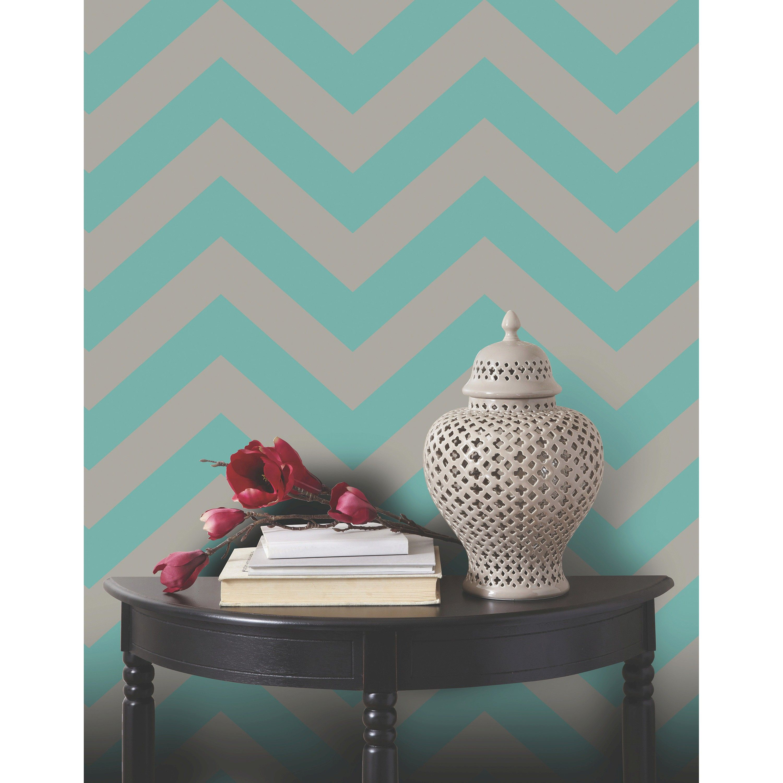 Devine Color Zig Zag Peel & Stick Wallpaper - Pond & Mirage ...