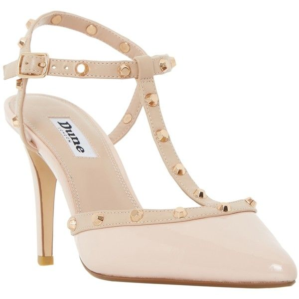 Dune Catelyn Studded TBar Court Shoes