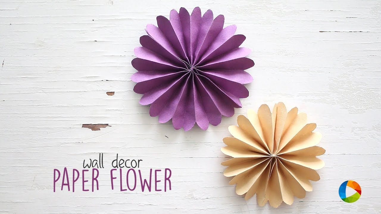 Diy Wall Decor Paper Flowers Youtube Wedding Pinterest
