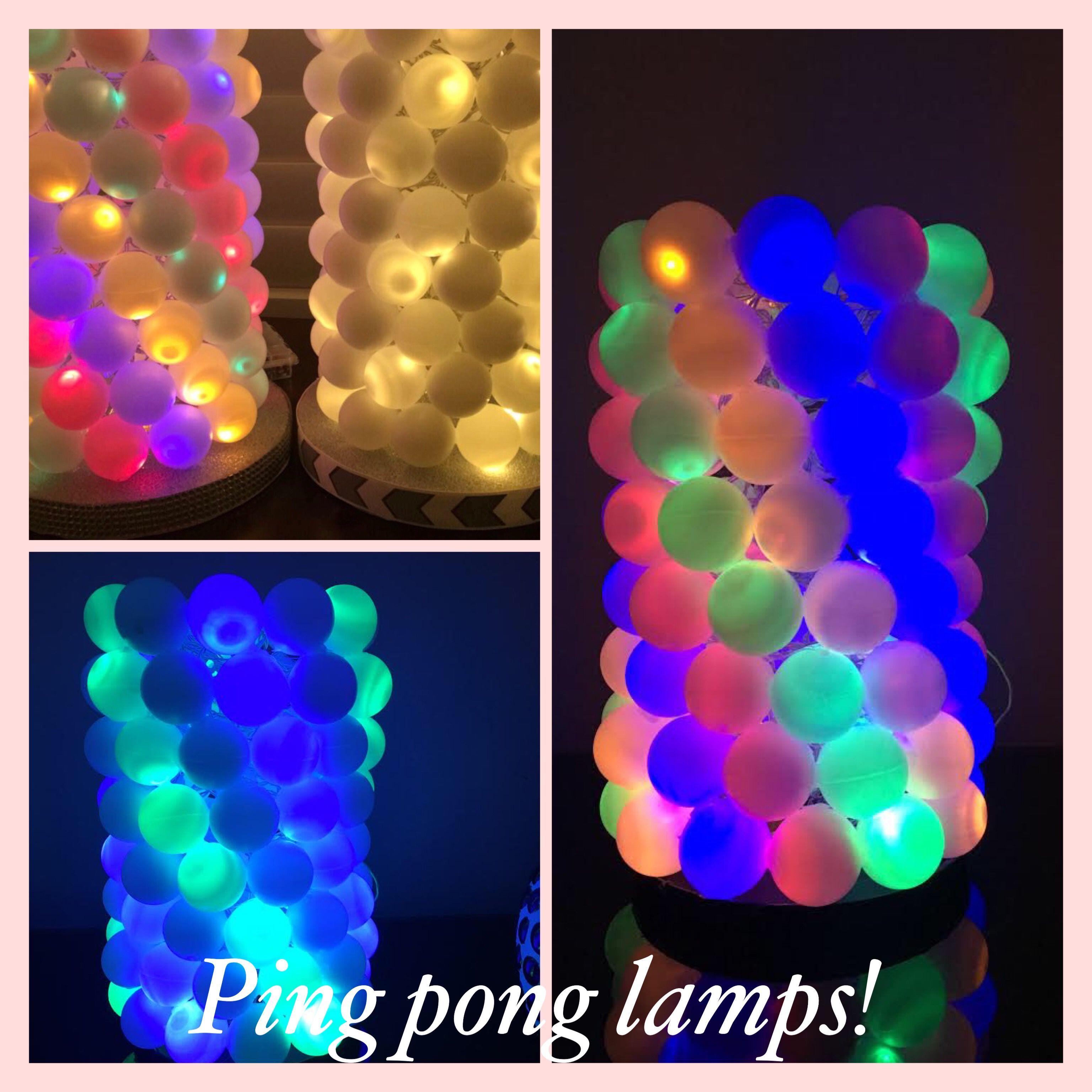 #Handmade #Lamp #Led #Lights #Pingpong #Craft #Ideas #Diy