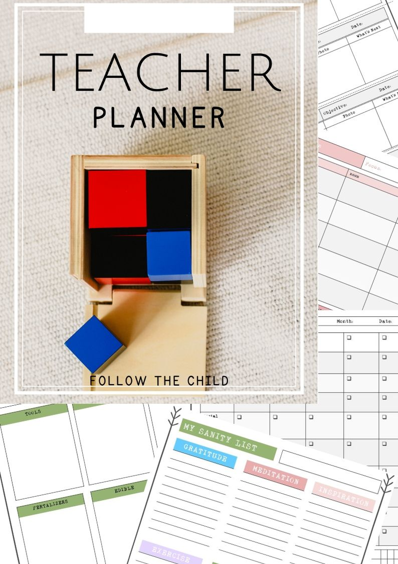 Editable and customizable teacher planner with daily and ...