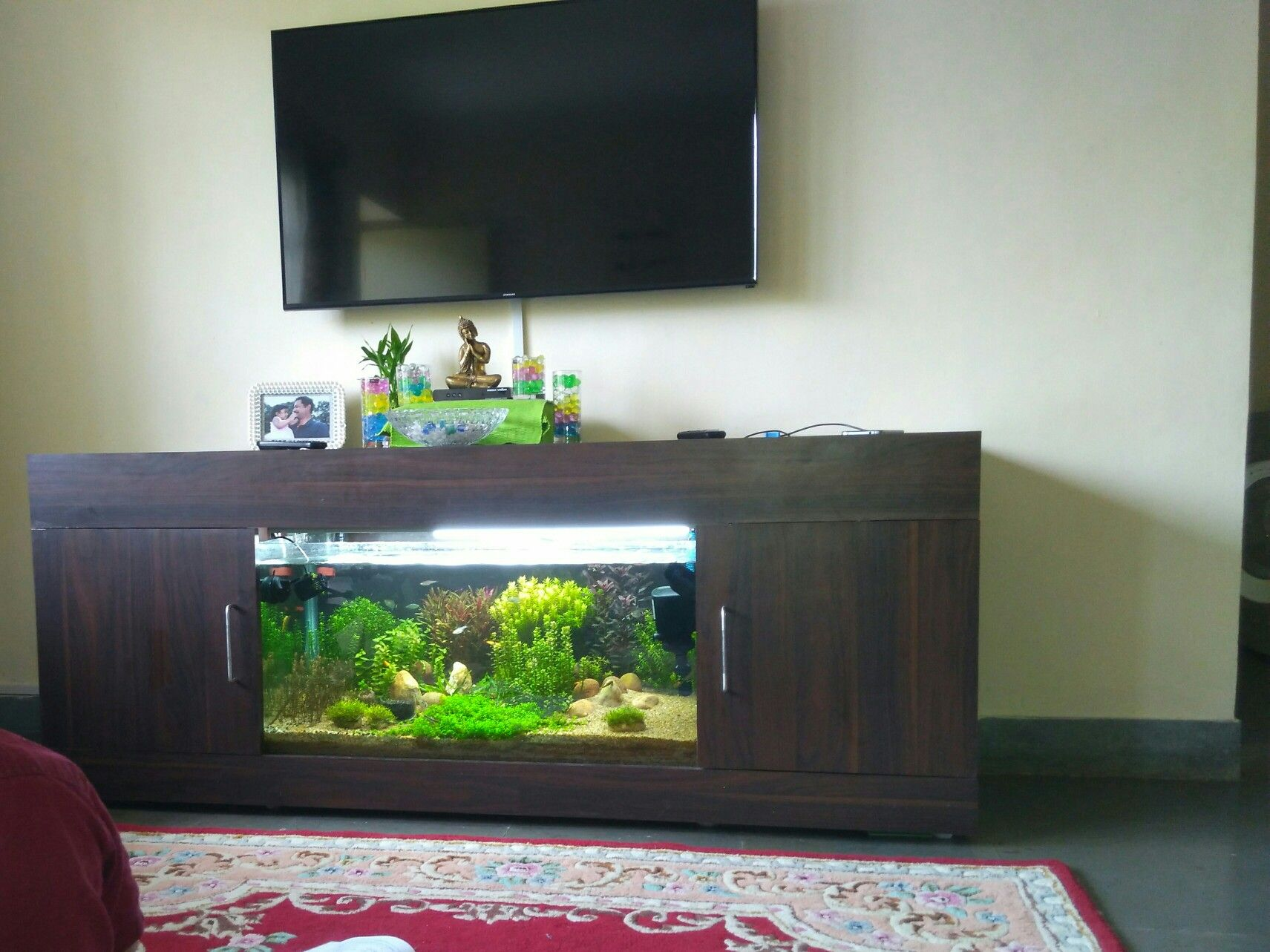Pin By Madhav Ch On Aquarium Tv Unit Fish Tank Table Fish Tank Stand Home Decor