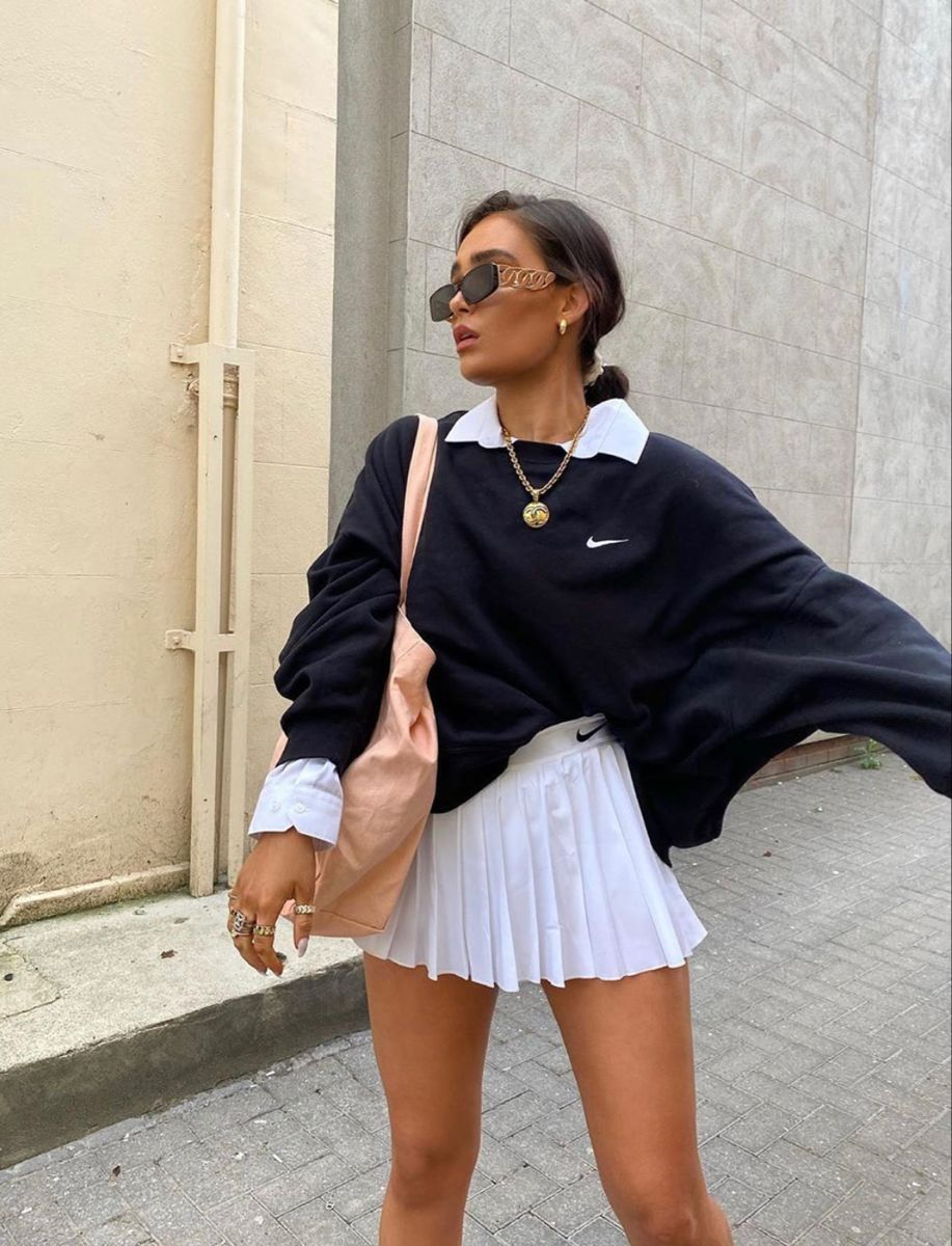 Pin By Natalie On Street Style In 2020 Tennis Skirt Outfit Fashion Inspo Outfits Cute Casual Outfits