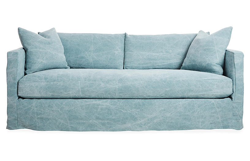 Shaw Slipcover Sofa Chambray Linen Slipcovered Sofa Slipcovers