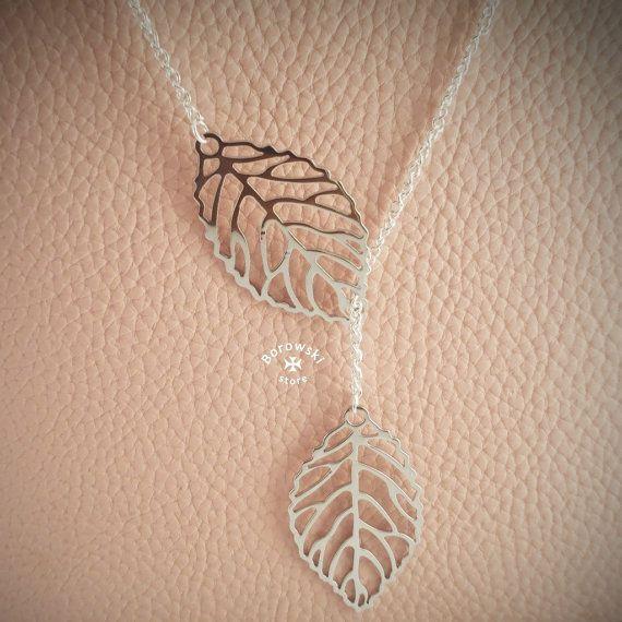 FREE SHIPPING  Leaf pendant necklace от BorowskiStore на Etsy