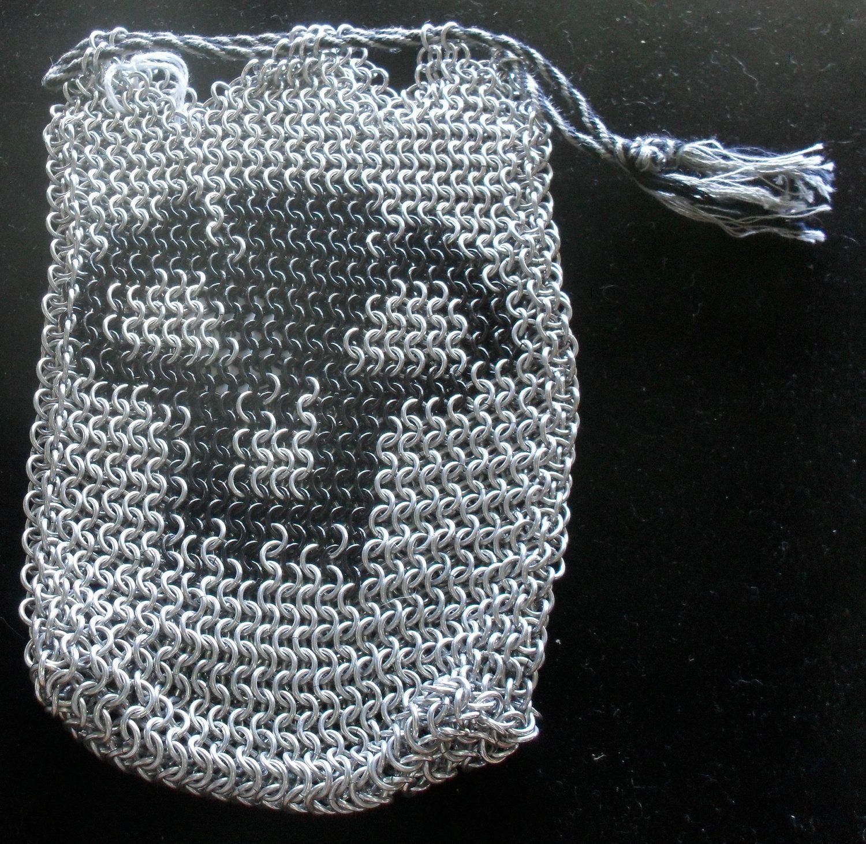 bag036 #Black #Mana Deck Bag. $80.00, via #Etsy.  #handmade #chainmaille #mtg #games #gamers #geek #magic