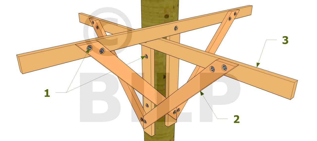 Les diff rents modes de support d 39 une cabane perch e - Construire une maison dans un arbre ...