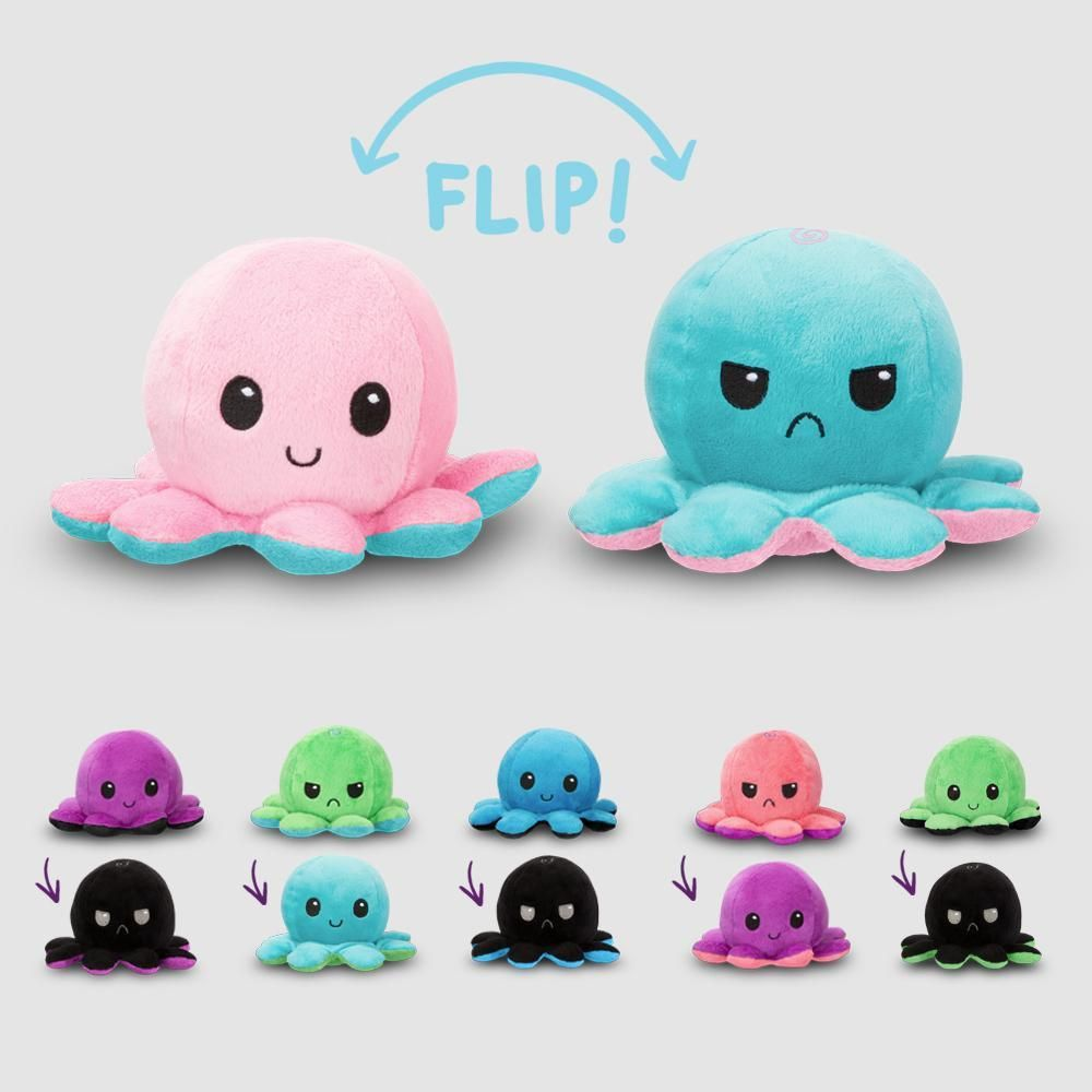 Reversible Octopus Mini Wave 2 Plushie Funny Cute Nerdy Plushies Teeturtle Sewing Stuffed Animals Plushie Patterns Trendy Toys