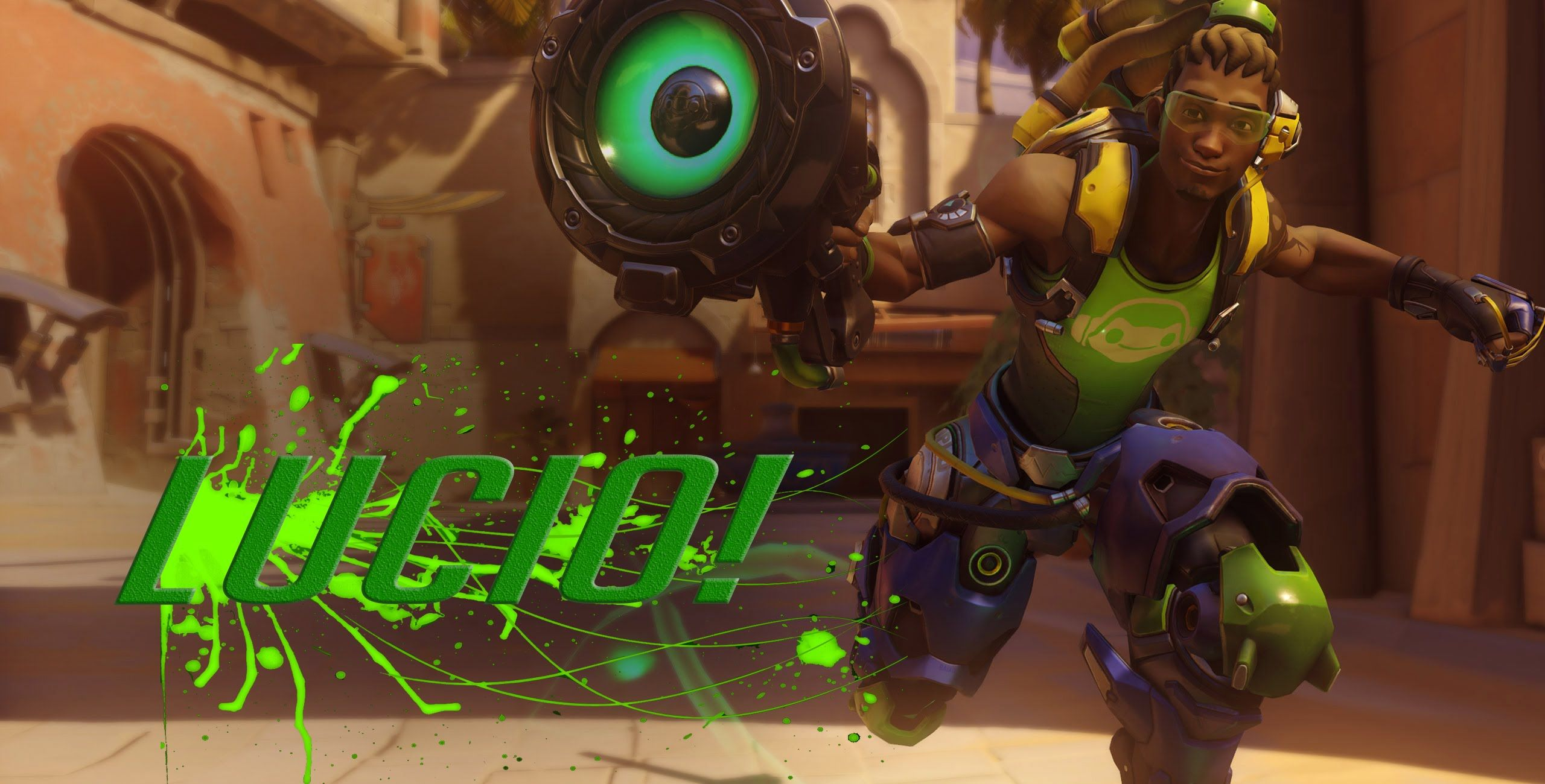 DERPY POTATO! OVERWATCH PLAYS LUCIO FOR THE FIRST TIME