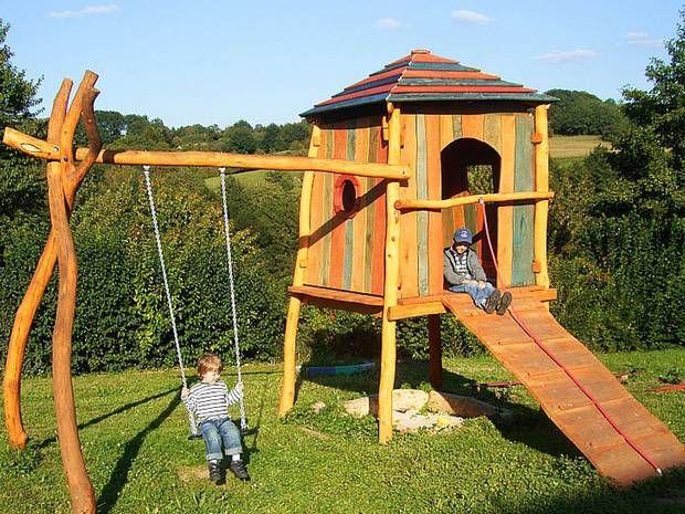 spielgeraete rheber spielturm garten zuh | Spielturm