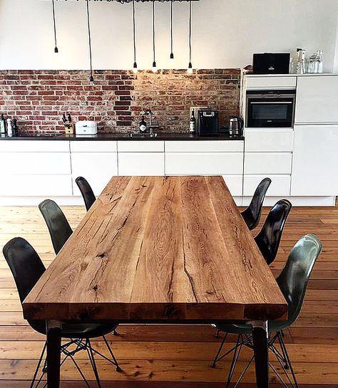 Esstisch Massivholztisch Holztisch aus Eichenholz-Altholz im