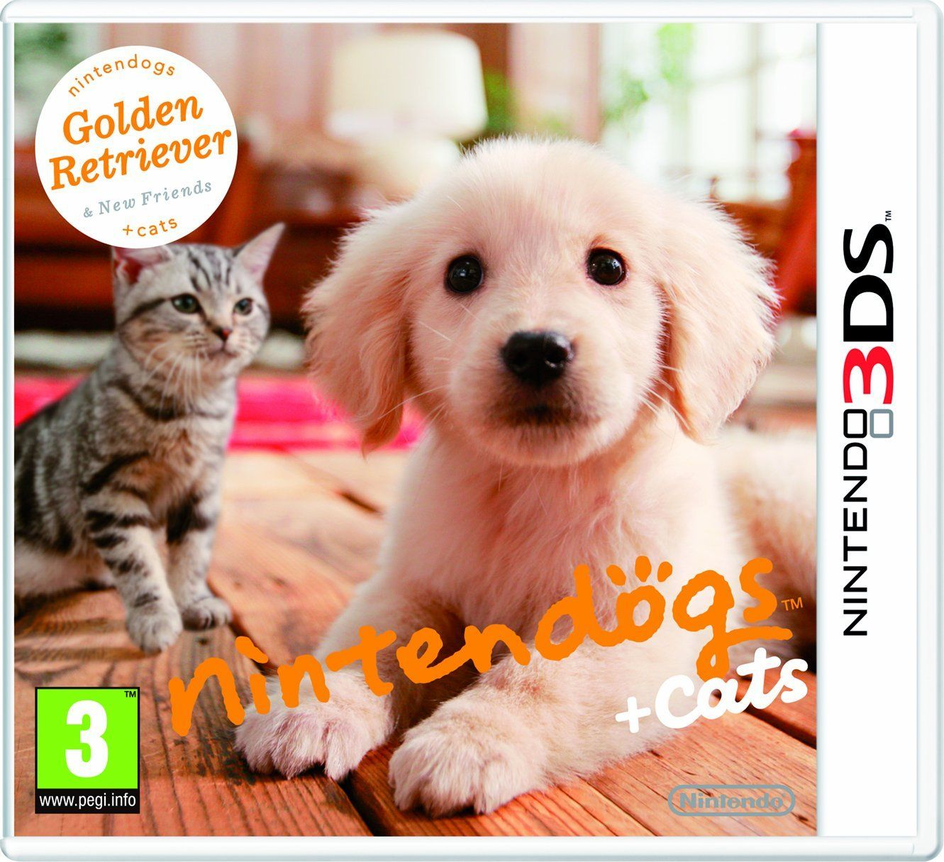 Nintendogs Cats Golden Retriever New Friends Nintendo 3ds