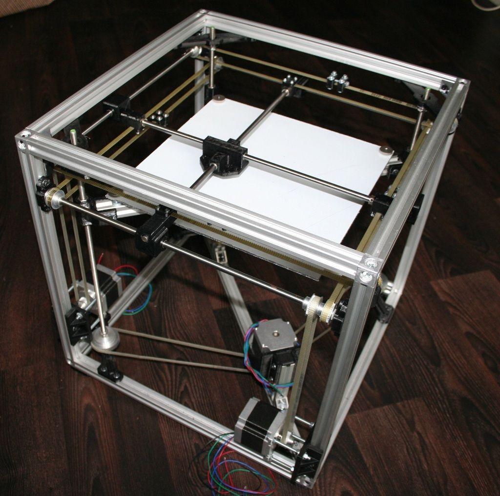 reprap cube speed optimized, big built aerea