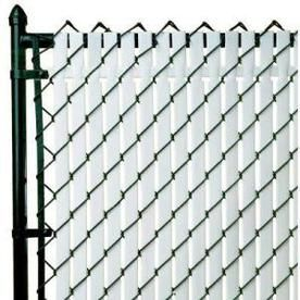 Pexco 6 In X 70 In White Chain Link Privacy Slat Chain Link Fence Chain Link Fence Cover Fence