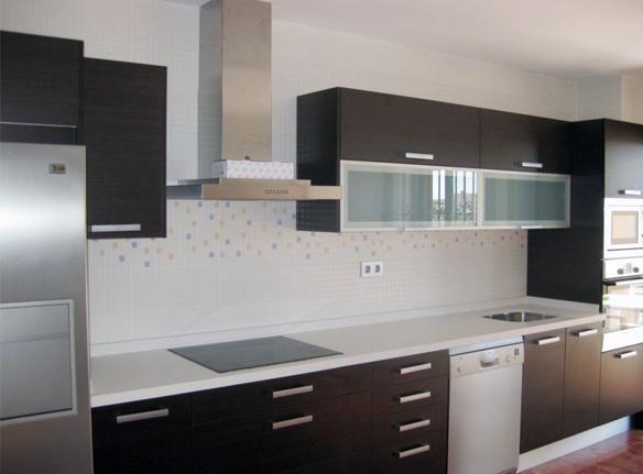 cocina comedor con muebles de melamina  Buscar con Google  Cocinas