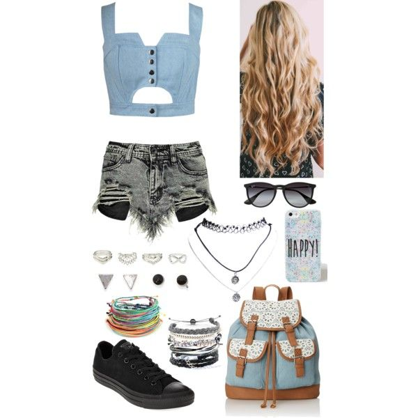 Untitled #18 by bubblegumboy on Polyvore featuring polyvore, fashion, style, Chicnova Fashion, Boohoo, Converse, Wild Pair, Domo Beads, Charlotte Russe, With Love From CA, Wet Seal and Ray-Ban