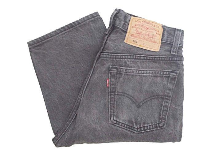 fb523cac Vintage Levis 501 Jeans 90s USA Made Dark Grey/Faded Black Denim W28 L30 by  BlackcatsvintageUK on Etsy