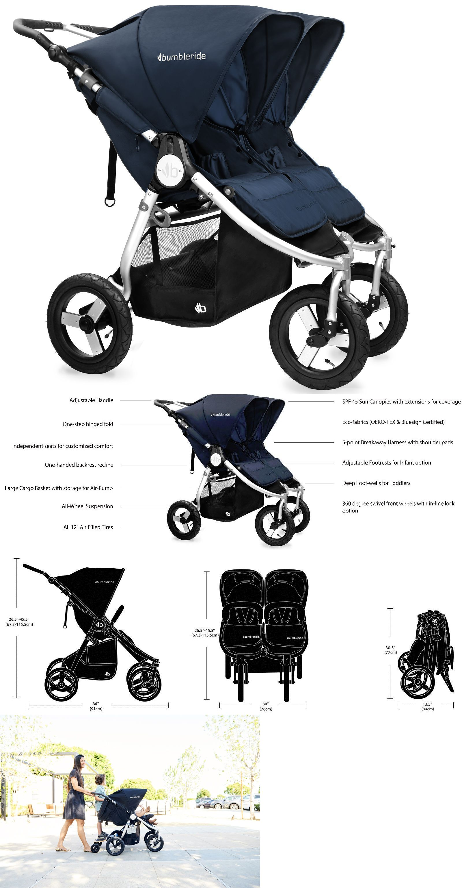 Strollers Baby Jogger City Select Lux Twin Tandem Double Stroller With Second Seat Slate BUY IT NOW ONLY $705 48 on eBay