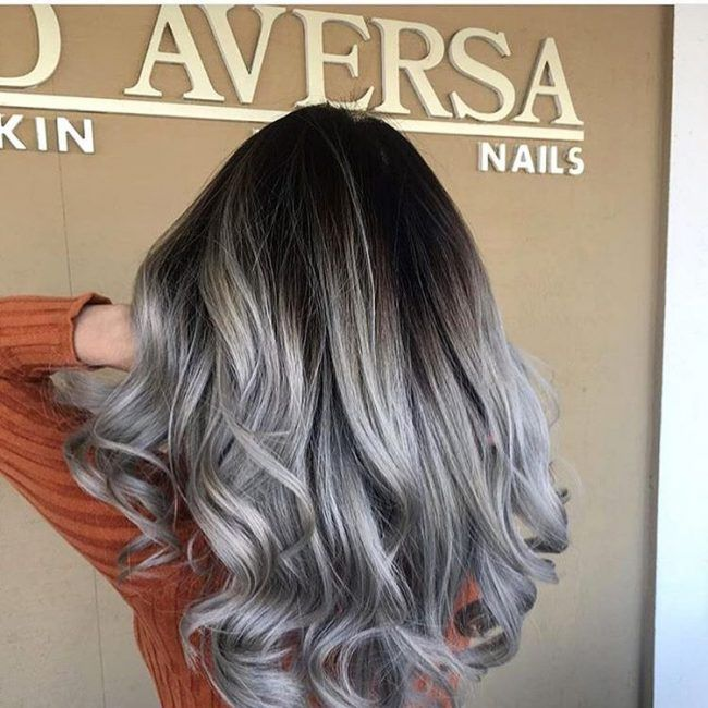 Silver ombre, grey ombre hair is the new blonde color. The number of people