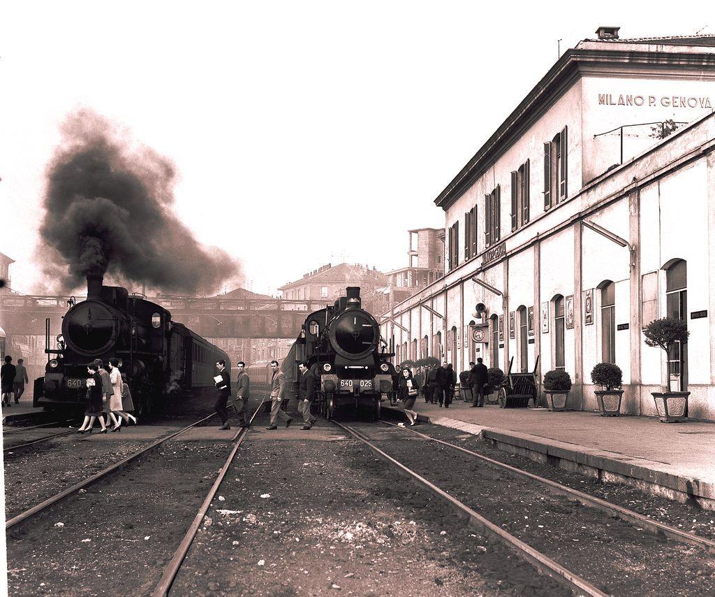 Foto d 39 epoca stazione di milano genova treni a - Milano porta genova treni ...