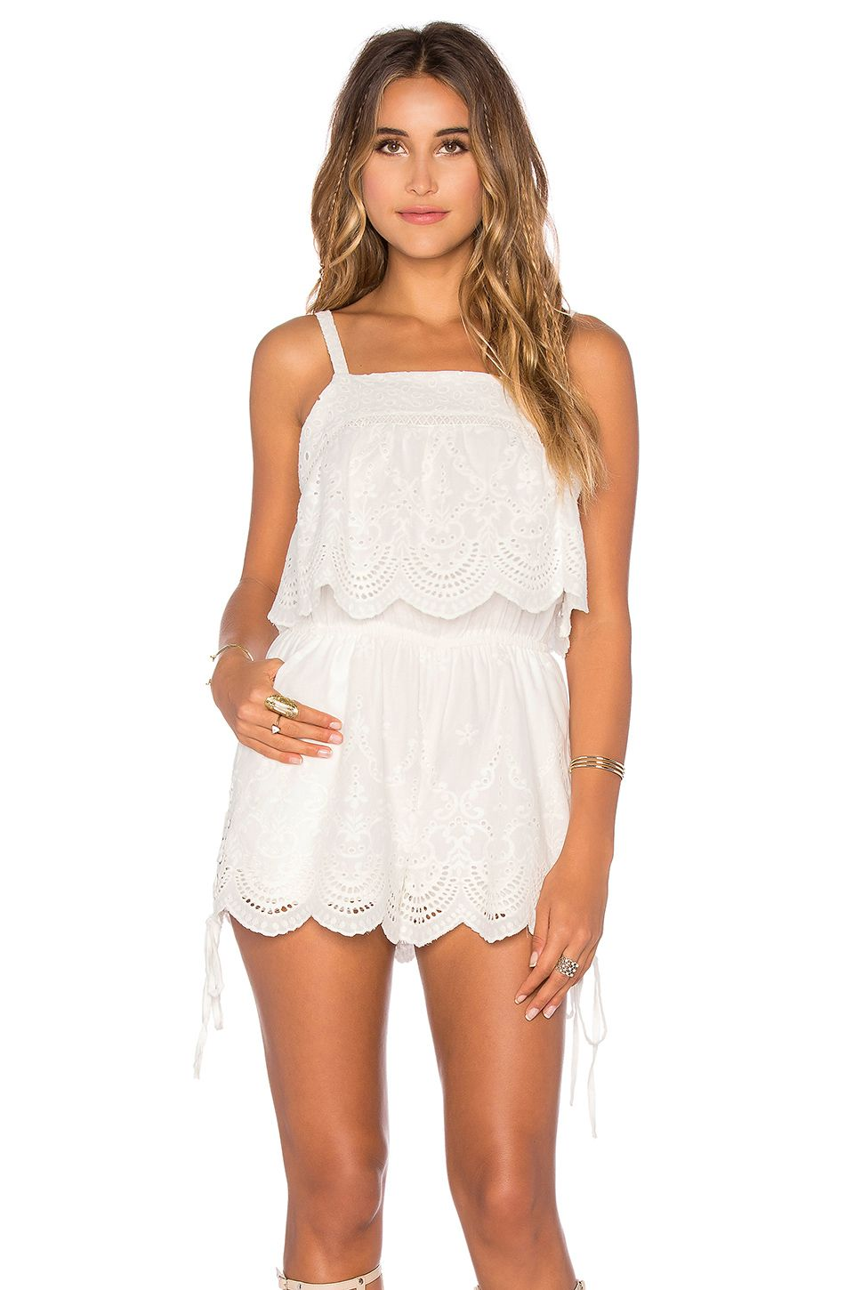 0fe8aab380ba MINKPINK Crescent Moon Romper in Off White