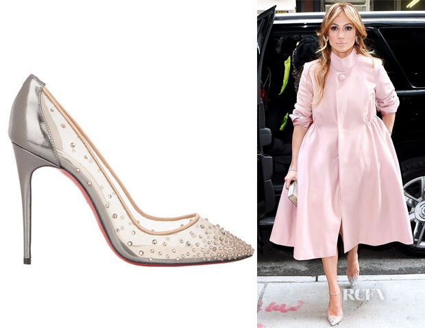 fc24ef0d114 Jennifer Lopez's Christian Louboutin Crystal-Embellished Follies ...