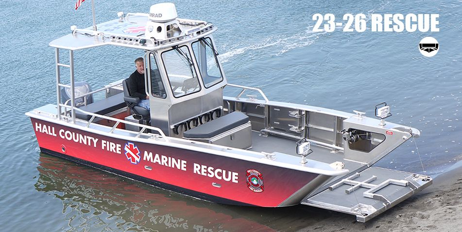 Hall county fire marine rescue rescue boats munson for Aluminum craft boats for sale