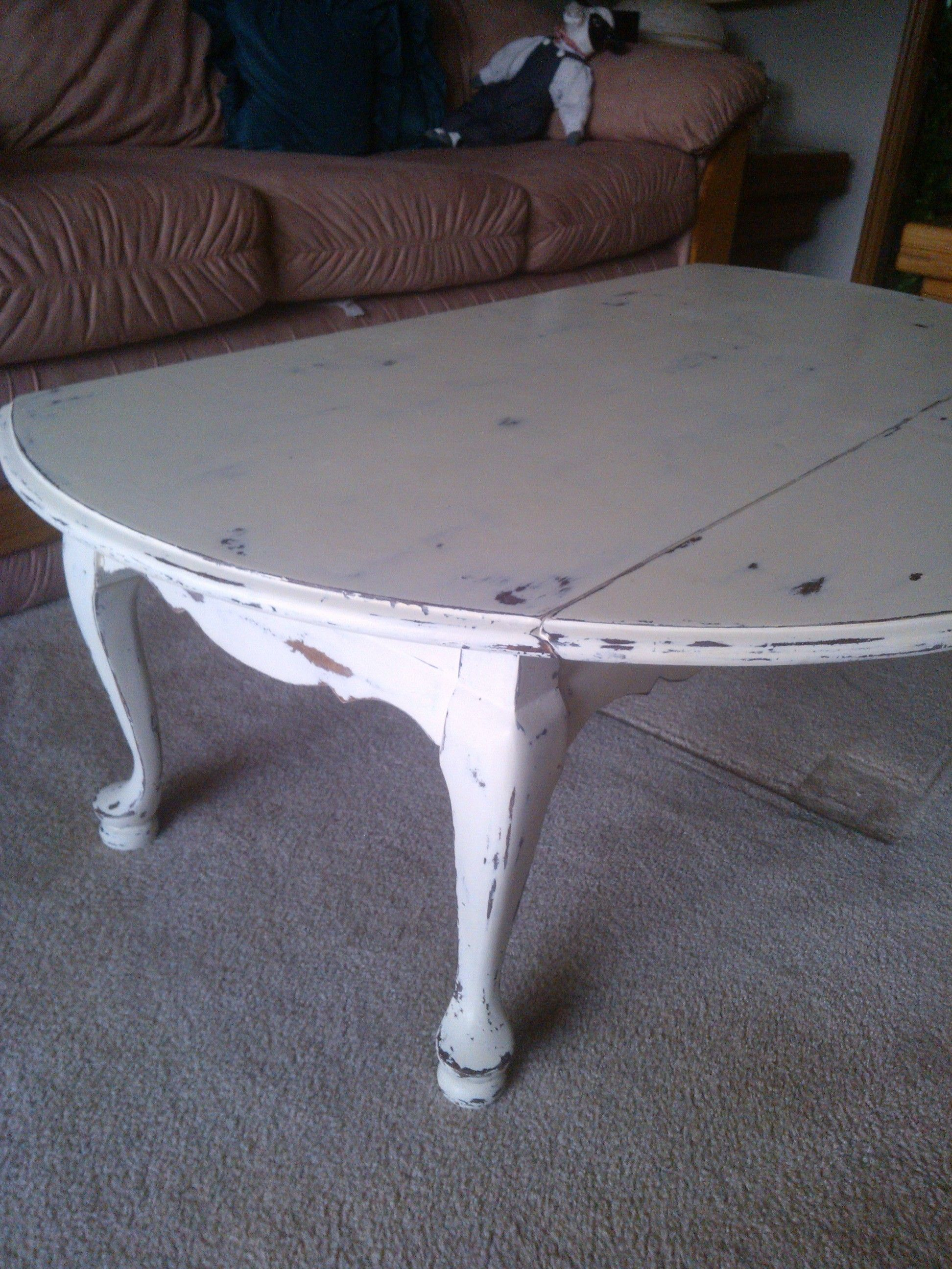 distressed dropleaf coffee table finished projects Pinterest