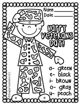 Veterans Day Free Color Code Veterans Day Activities Veterans Day Coloring Page Veterans Day