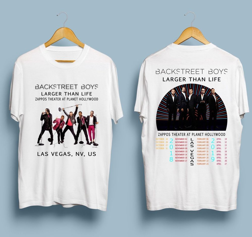 8a9f331dd Backstreet Boys Larger Than Life Live In Las Vegas 2018-'19 Gildan White T- Shirt #fashion #clothing #shoes #accessories #mensclothing #shirts (ebay  link)