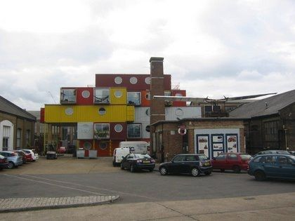 Visiting Container City. Trinity Buoy Wharf in the Docklands,  London