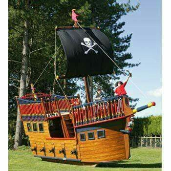 Pirate ship   Outdoor Play in 2019   Play houses, Build a ...