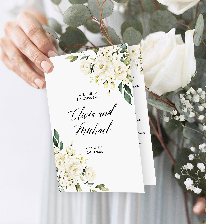 Wedding Program Template Ceremony Program Printable